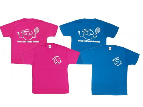 ソフトテニスのイベントで参加される皆様に配布される記念Tシャツです・・・