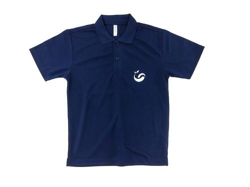 吸汗、UVカット効果にも優れたドライポロシャツにワンポイントでロゴ・・・